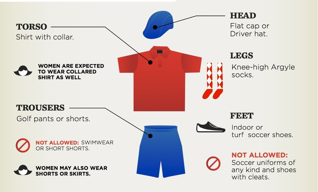 Graphic displaying the dress code for FootGolf at The Lights at Indio